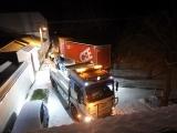 Zablokovaná silnice kamionem v Srlíně - 3. 12. 2020